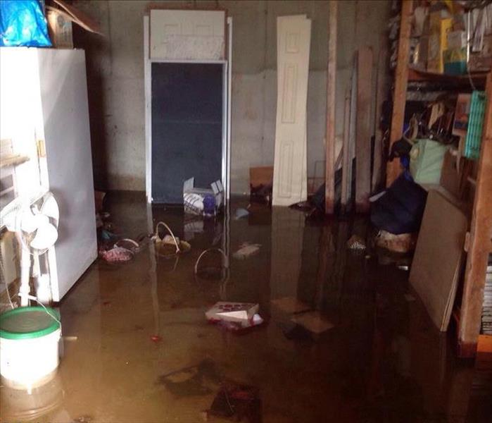 Damages caused by sump pump failure Before